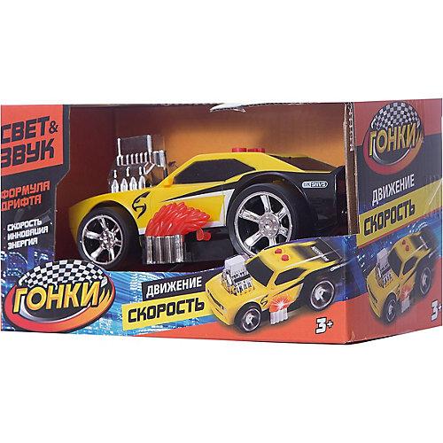 Гоночная машина Играем вместе, черно-желтая от Играем вместе