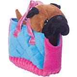 """Мягкая игрушка Играем вместе """"My friends"""" Собачка в сумке, коричневая, 17см"""