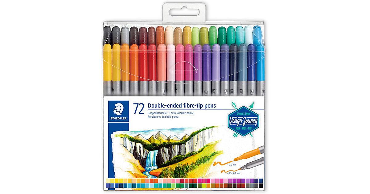 Doppel-Filzstifte, 72 Farben