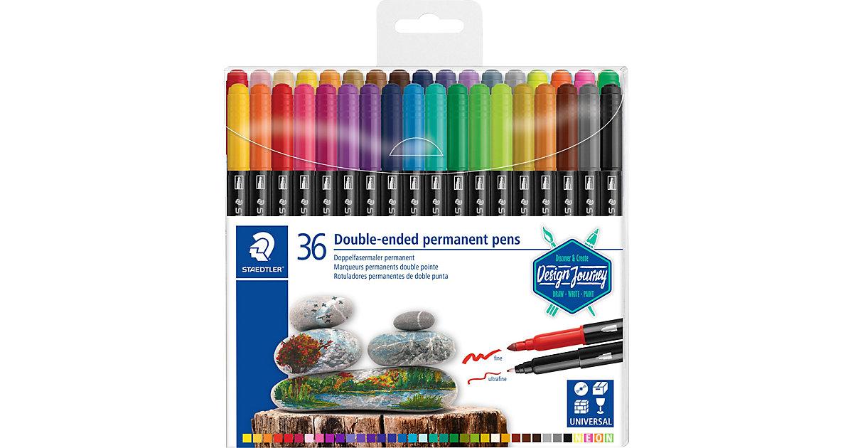 Filzstifte Duo permanent, 36 Farben