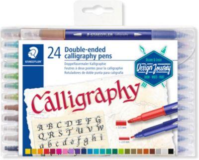 Design Journey Doppel-Fasermaler Calligraph duo, 24 Farben