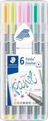 Набор капиллярных ручек Staedtler «Triplus Fineliner», 6 пастельных цветов