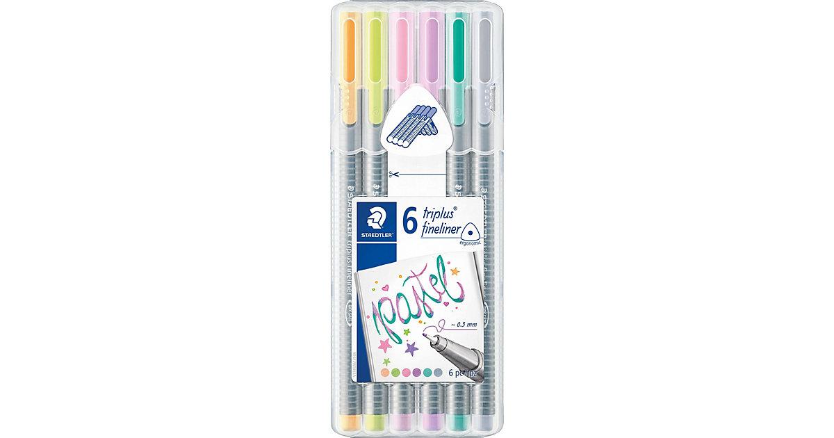 Fineliner triplus My Colours Pastel, 6 Farben