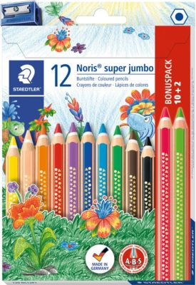 Faber-Castell 10 Triangular Jumbo Farbstift in Dreieckform Malstifte Buntstifte