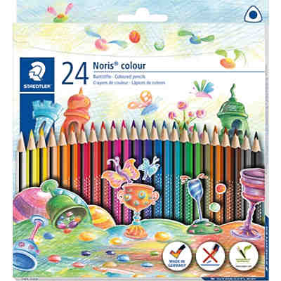 Noris colour Dreikant-Buntstifte, 24 Farben