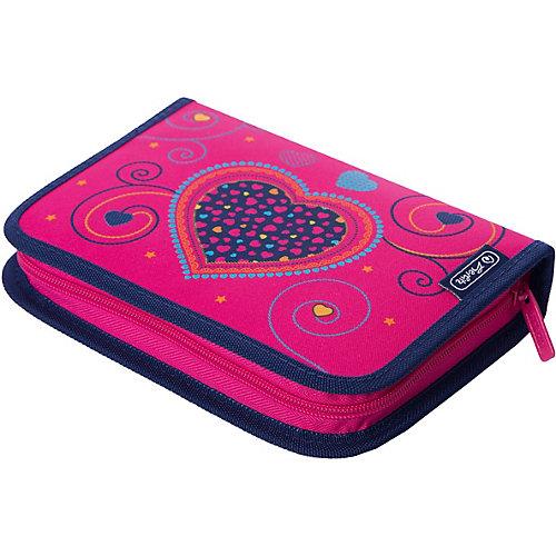 Пенал с наполнением Herlitz Pink Hearts, 31 предмет - розовый/розовый от herlitz