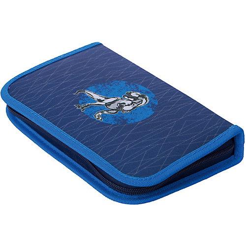 Пенал с наполнением Herlitz Blue Dino, 31 предмет - синий от herlitz
