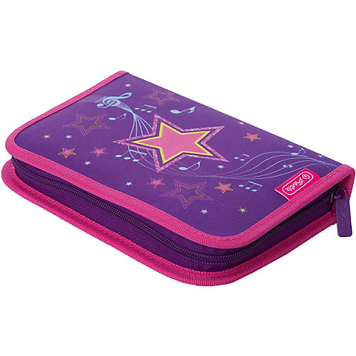 Пенал с наполнением Herlitz Melody Star, 31 предмет - фиолетовый от herlitz