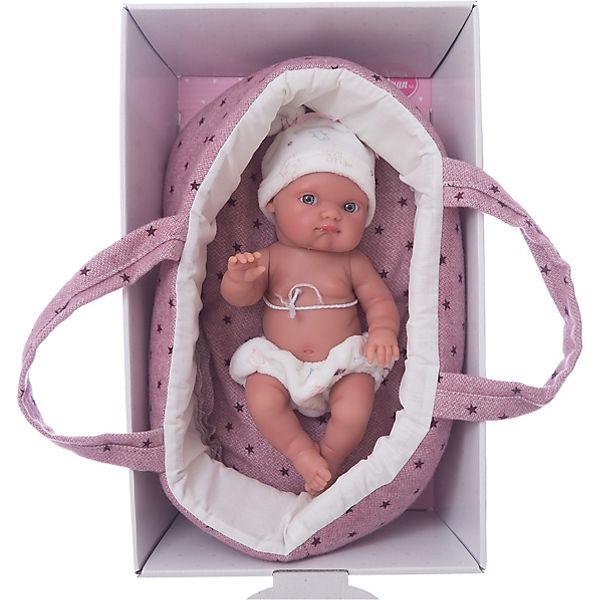 """Кукла """"Пепита"""" в фиолетовой корзине, 21см, Munecas Antonio Juan"""