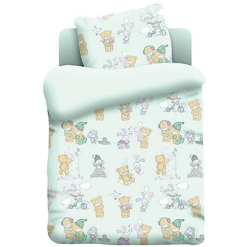 Детское постельное белье 3 предмета Непоседа, Тедди (поплин) - разноцветный от Непоседа