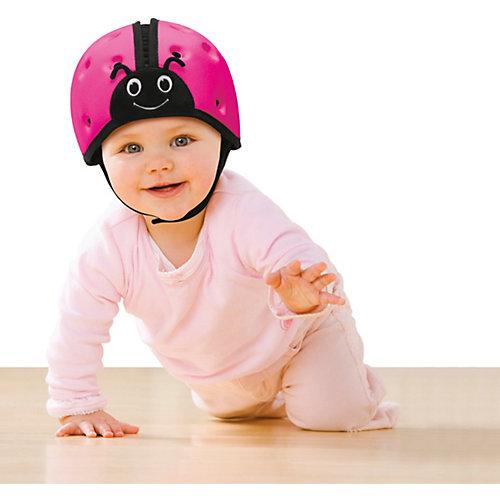 "Мягкая шапка-шлем для защиты головы SafeheadBABY ""Божья коровка"",розовый"