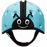 """Мягкая шапка-шлем для защиты головы SafeheadBABY """"Божья коровка"""", синий"""