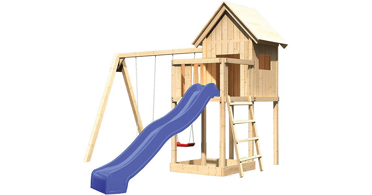 spielhaus mit rutsche und schaukel machen sie den. Black Bedroom Furniture Sets. Home Design Ideas