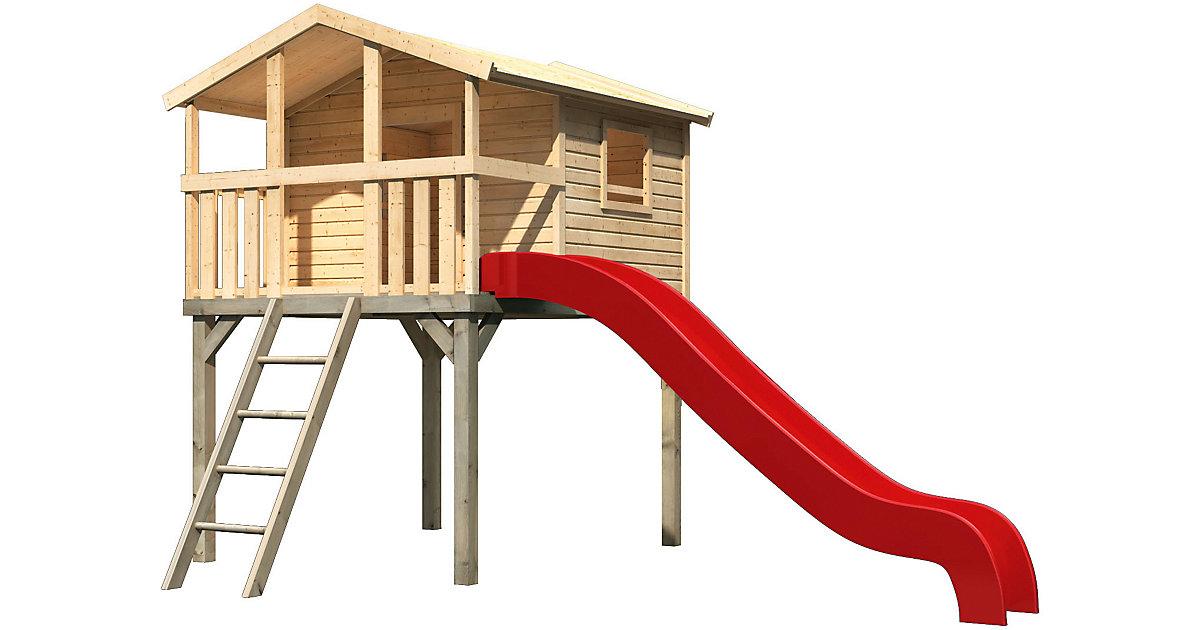 Stelzenhaus Benjamin im Set mit Rutsche rot