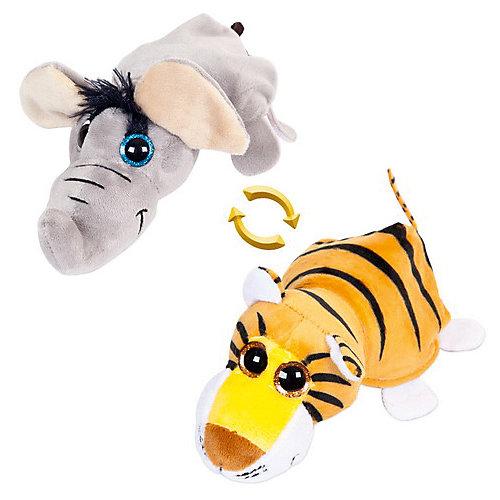 """Мягкая игрушка Teddy """"Перевертыши"""" Слон-Тигр, 16 см от TEDDY"""
