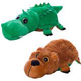 """Мягкая игрушка Teddy """"Перевертыши"""" Медведь-Крокодил, 16 см"""