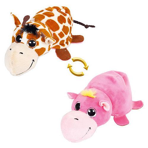 """Мягкая игрушка Teddy """"Перевертыши"""" Жираф-Бегемотик, 16 см от TEDDY"""