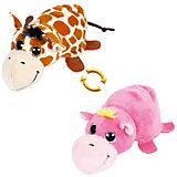 """Мягкая игрушка Teddy """"Перевертыши"""" Жираф-Бегемотик, 16 см"""
