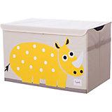 Сундук для хранения игрушек 3 Sprouts Жёлтый носорог