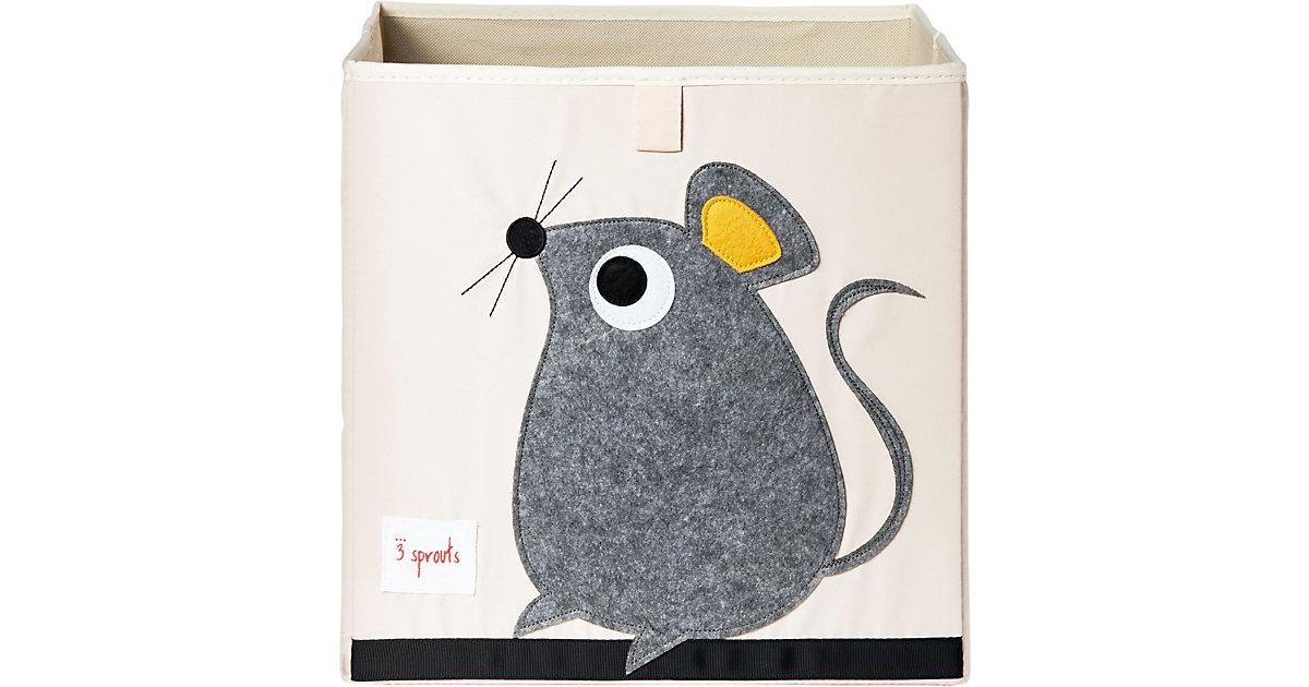 Image of Aufbewahrungsbox Maus, 33 x 33 cm grau