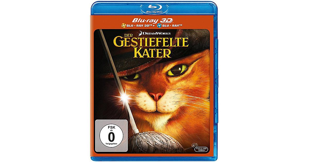 BLU-RAY Der gestiefelte Kater 3D (BluRay 3D + B...