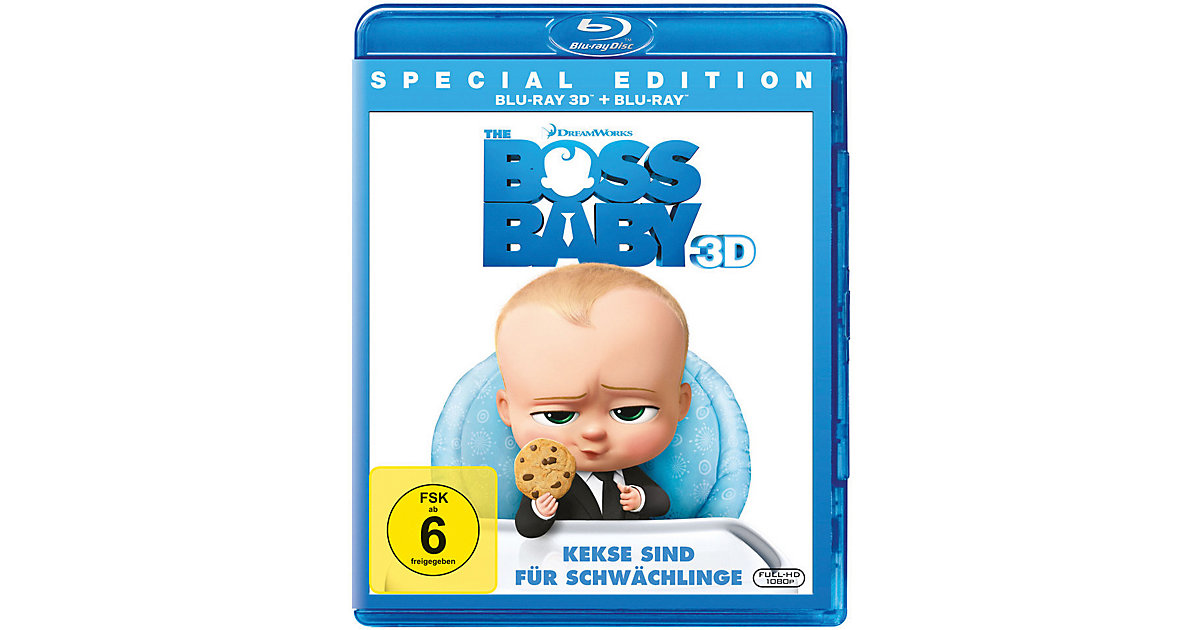 BLU-RAY The Boss Baby 3D (BluRay 3D + BluRay) Hörbuch