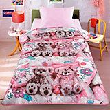 Покрывало-одеяло Тэдди, розовый 140*200, стеганное, Letto