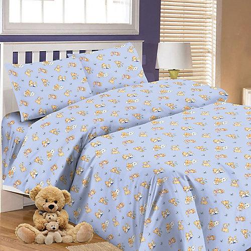 Детское постельное белье 3 предмета Letto, BG-64 - синий от Letto