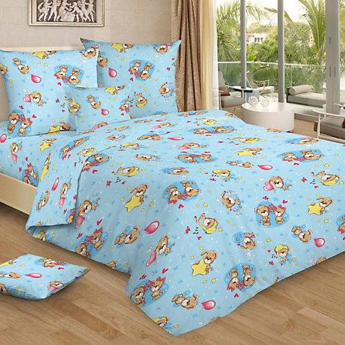 Детское постельное белье 3 предмета Letto, BG-73 - синий от Letto