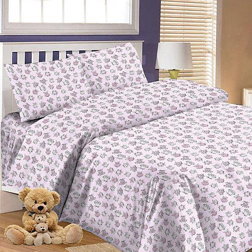 Детское постельное белье 3 предмета Letto, BG-66 - розовый от Letto