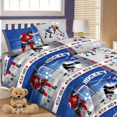 Детское постельное белье 1,5 сп. Letto,Хоккей