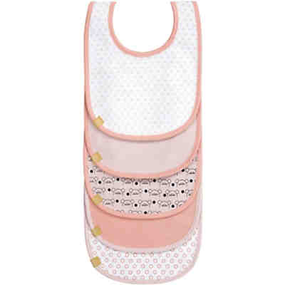 Lätzchen mit Klettverschluss, 5er Set, Little Chums Mouse light pink