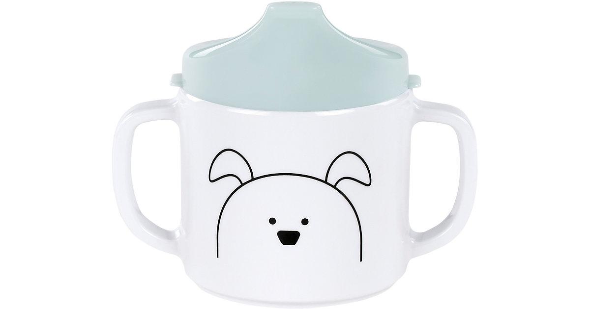 Trinklernbecher mit Doppelgriff, Little Chums Dog light mint