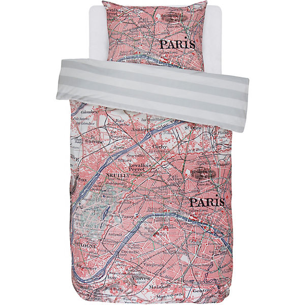Wende Bettwäsche Paris Citymap Multi 135 X 200 Cm Covers Co