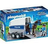 """Конструктор Playmobil """"Полиция"""" Полиция с лошадью и прицепом"""
