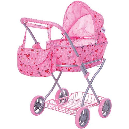 Коляска-люлька для кукол с сумкойBuggy Boom, светло-розовая от Buggy Boom