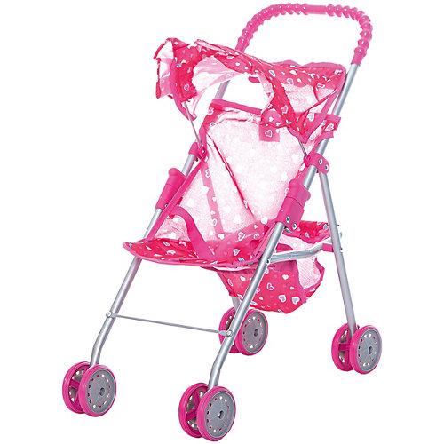 Коляска для кукол с козырьком в рюшах Buggy Boom, розовая от Buggy Boom
