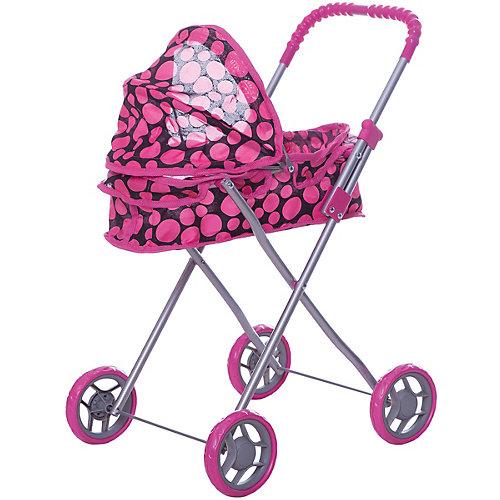 Коляска для кукол Buggy Boom, черная в розовый горошек от Buggy Boom