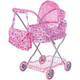 Коляска для кукол с сумкой Buggy Boom, светло-розовая