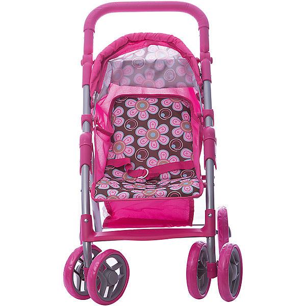 Коляска - трансформер Buggy Boom , коричнево-розовая
