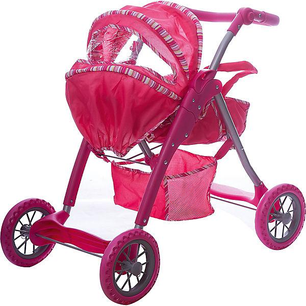 Коляска - трансформер Buggy Boom , ярко-розовая