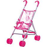Коляска-трость для кукол Buggy Boom , розовый с цветами