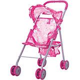 Коляска для кукол с козырьком Buggy Boom, розовая