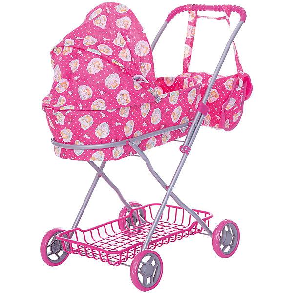 Коляска для кукол Buggy Boom, ярко-розовая