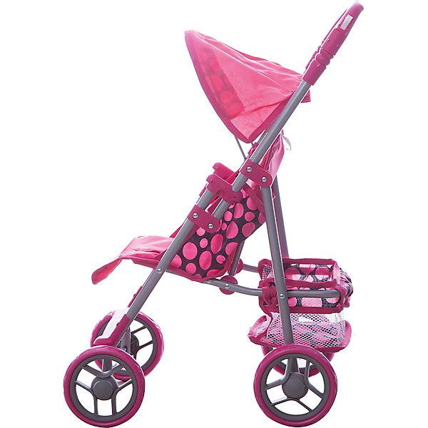 Коляска - трансформер Buggy Boom , розовая с  горошком