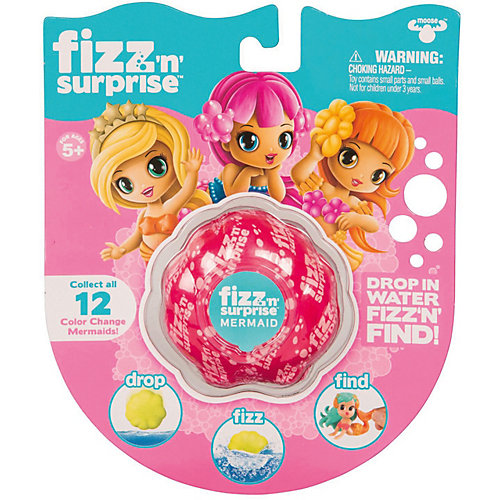 "Шипучая ракушка Moose Fizz N Surprise ""Волшебная русалка"" от Moose"