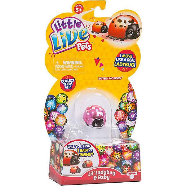 """Интерактивная игрушка Moose """"Little Live Pets"""" Божья коровка и малыш, Сердечко"""