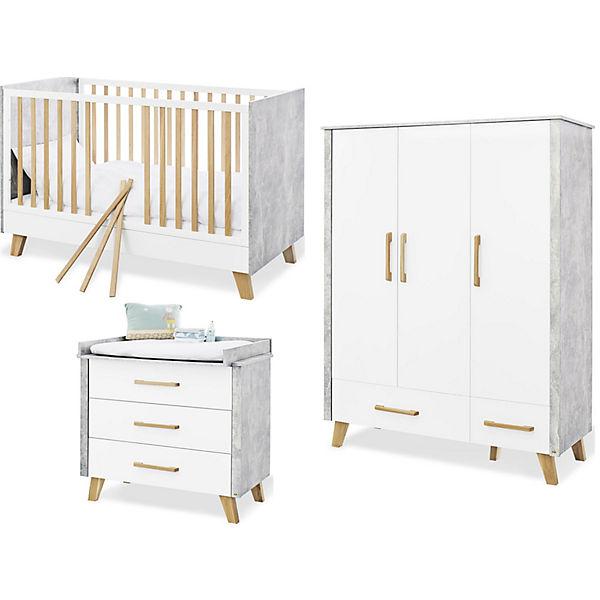 Komplett Kinderzimmer Apollo, breit und groß, 3-tlg. (Kinderbett 70 ...