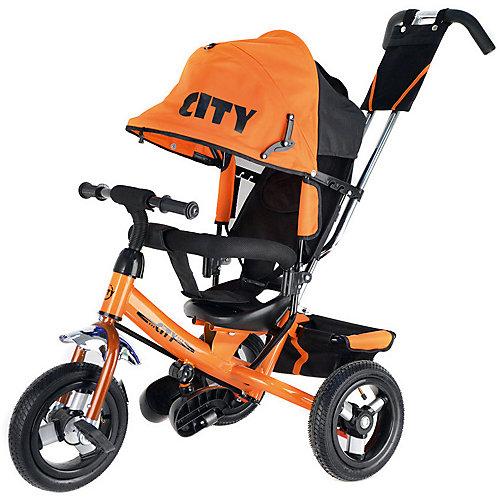 Трехколесный велосипед City 8/10, оранжевый от City