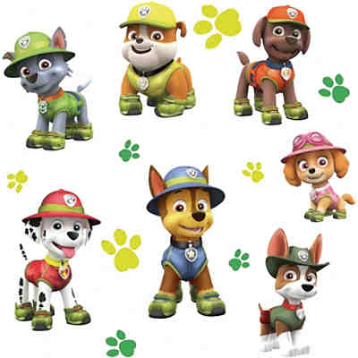 Wandsticker PAW Patrol Jungle Giant, 15-tlg.